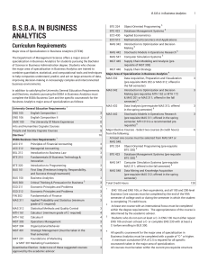 BSBA in Business Analytics - University of Miami Academic Bulletin