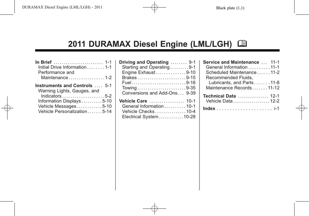 2011 DURAMAX Diesel Engine