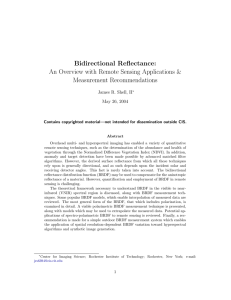 Bidirectional Reflectance - Division of Geological and Planetary