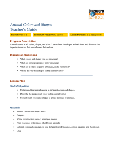 Animal Colors and Shapes - Discovery School Free Resources