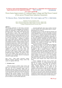 Power factor Improvement of Combined Input Voltage and