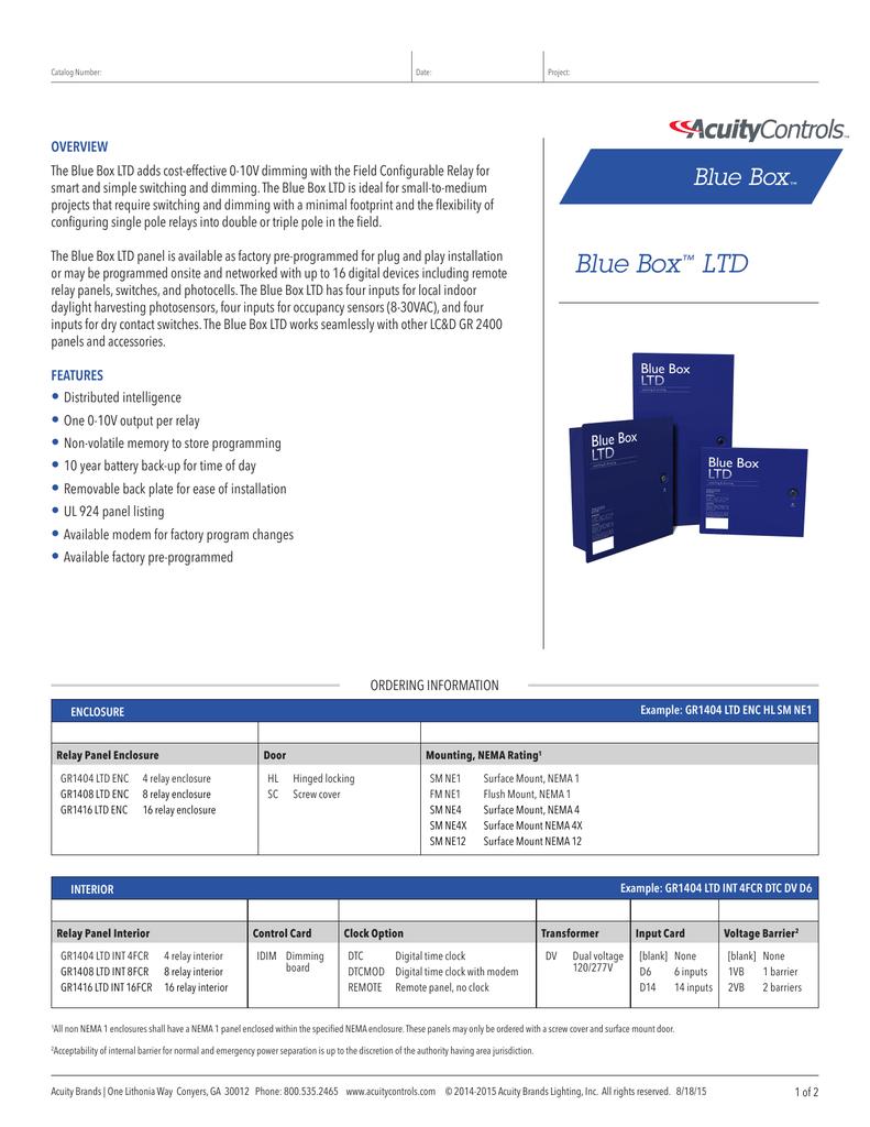 Blue Box Ltd Acuity Brands