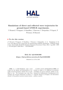 Simulations of direct and reflected wave trajectories for ground