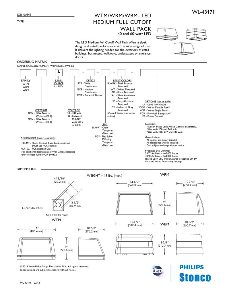 Spec Sheet - Villa Lighting