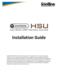 Installation Guide - Frontline Test Equipment