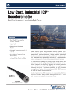 Low Cost, Industrial ICP® Accelerometer