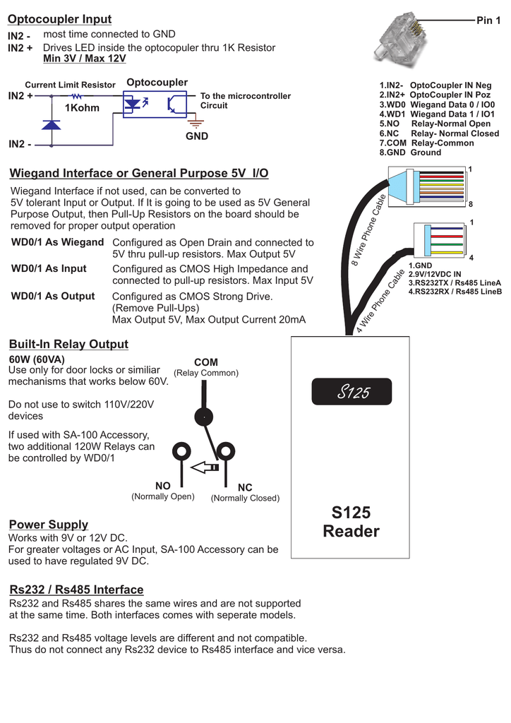 Connection Diagram - Normally open normally closed common relay