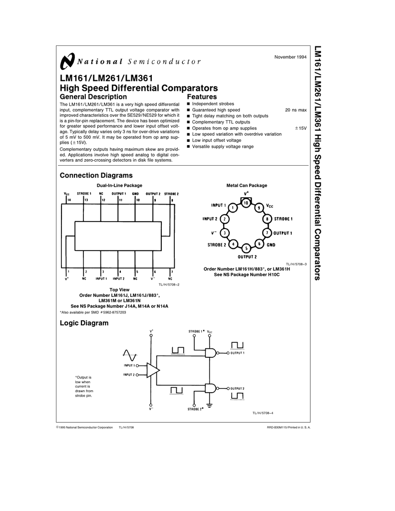 Metal Can NOS Komparator IC National LM106H // LM 106 H Comparator Circuit