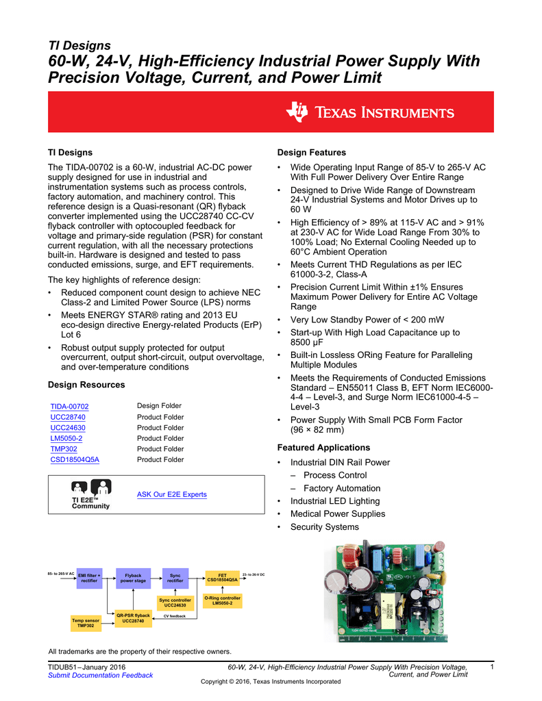 60w High Efficiency Industrial Power Supply Voltage Regulator 39hiccups39 When Gate Pin Of Mosfet Is