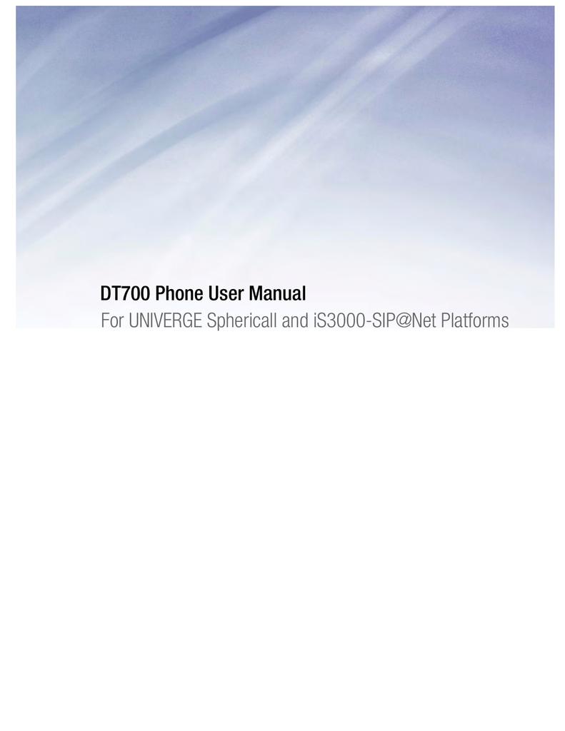 DT700 Phone User Manual