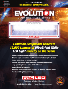 Evolution Lampheads Generate 15,000 Lumens of UltraBright White