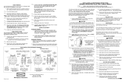 E, ER, ERW Cable Reels Instructions and Parts List