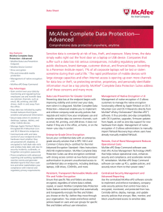 McAfee Complete Data Protection Advanced Datasheet