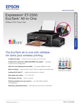 Expression® ET-2550 EcoTank™ All-in-One