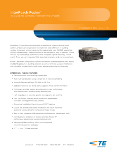 InterReach Fusion® In-Building Wireless Networking System