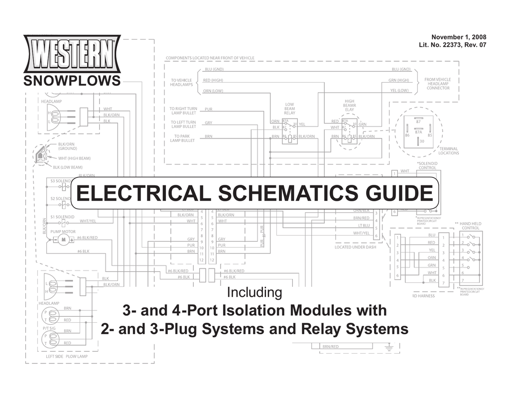 Western Electrical Schematics Guide H13 High Low Relay Wiring Diagram