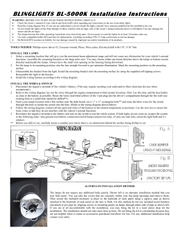 BLINGLIGHTS BL-5000K Installation Instructions