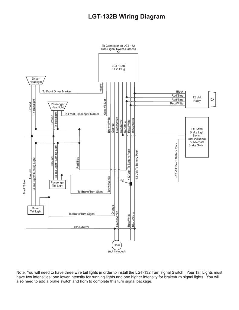 LGT132B Turn Signal Assy Wiring Diagram