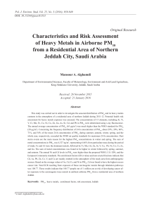 Characteristics and Risk Assessment of Heavy Metals in Airborne