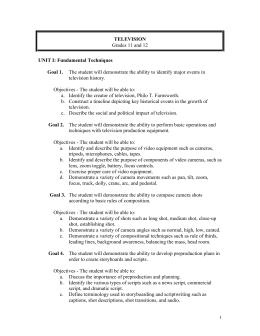 Television Course Curriculum