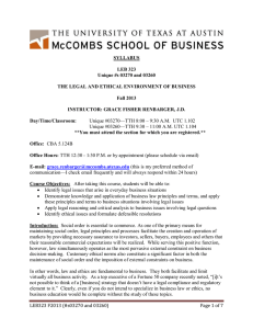 Business Law and Ethics - UT Direct