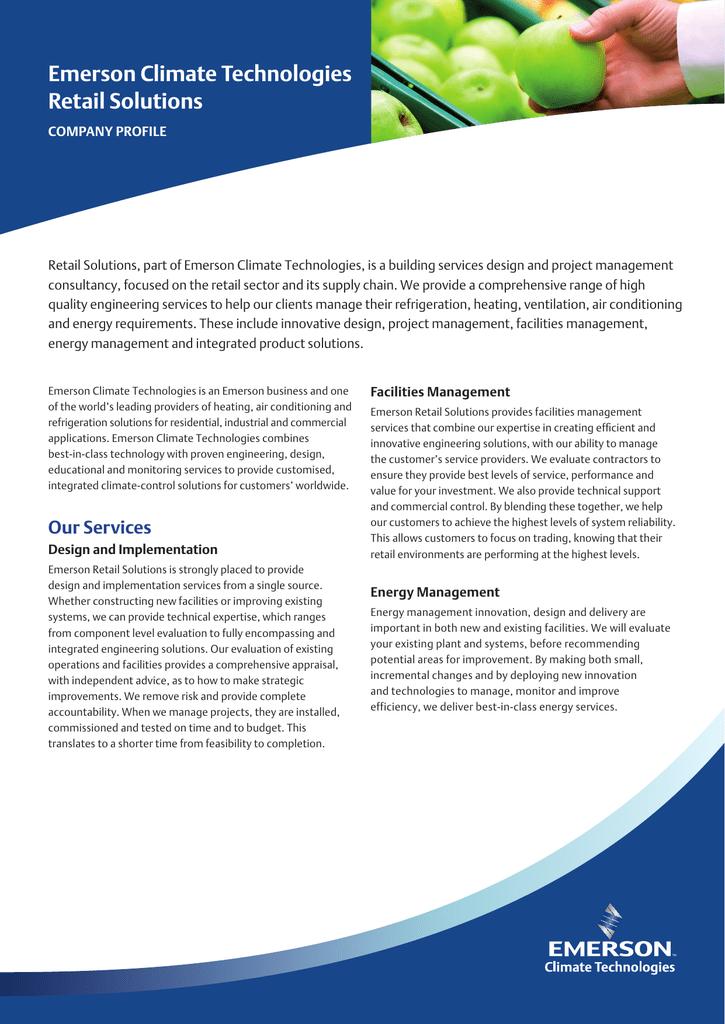 company profile - Emerson Climate Technologies