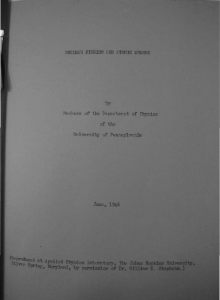 Nuclear Fission and Atomic Energy (1946,1948), Chapter 11