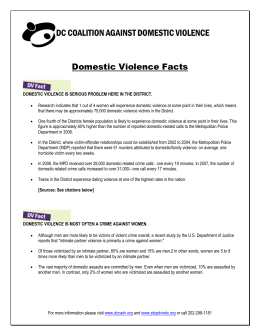 Domestic Violence Facts - DC Coalition Against Domestic Violence