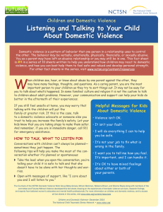 Listening and Talking to Your Child About Domestic Violence