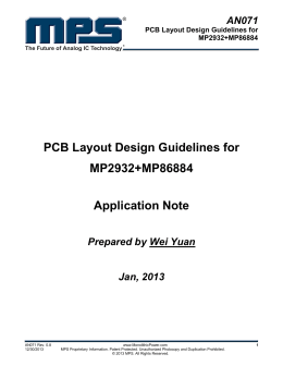 PCB Layout Design Guidelines for MP2932+MP86884 Application