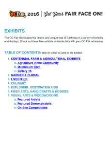 2016 OC Fair Exhibits Listing