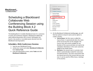 Scheduling a Blackboard Collaborate Session
