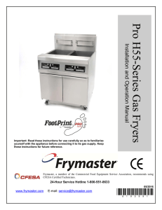 pro h55 series gas fryer chapter 1