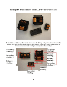 Testing HV Transformers from LCD TV inverter boards - Preher-Tech