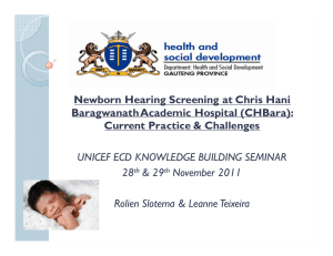 Newborn Hearing Screening at Chris Hani