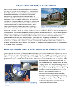 Physics and Astronomy at SUNY Geneseo