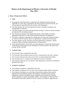 Bylaws of the Department of Physics, University of Florida May 2014