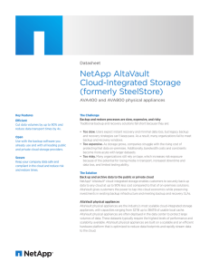 NetApp AltaVault Cloud-Integrated Storage