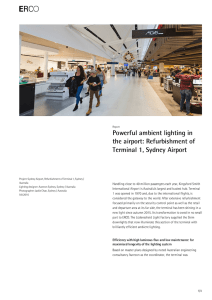 Powerful ambient lighting in the airport: Refurbishment of Terminal 1
