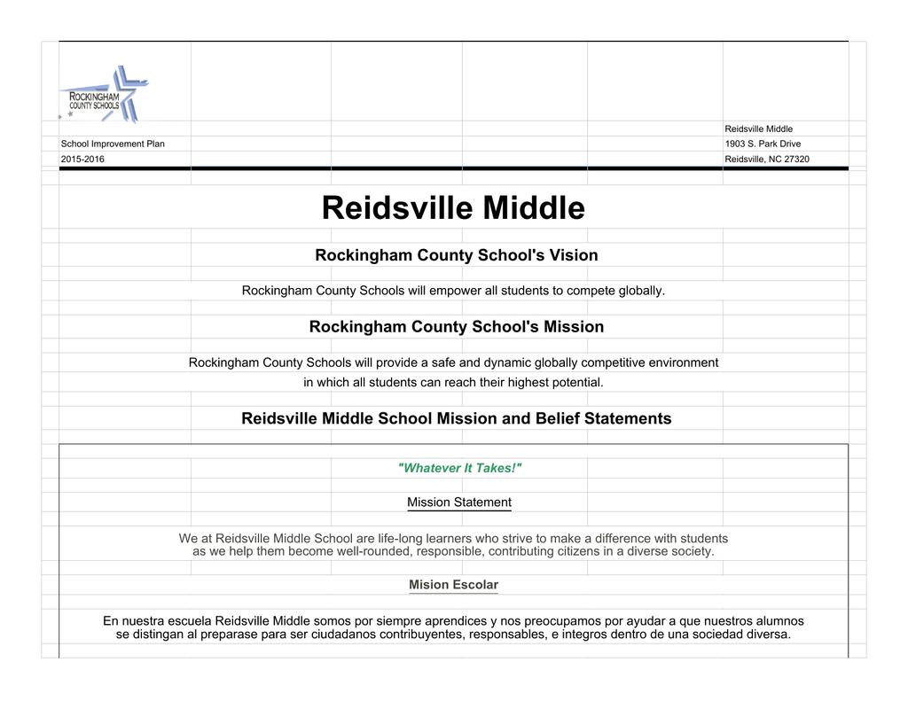 Reidsville Middle - Rockingham County Schools