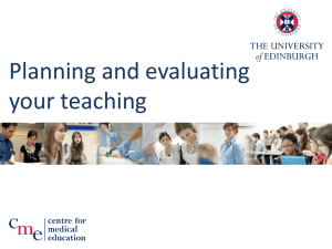 Planning and evaluating your teaching
