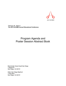 Program Agenda and Poster Session Abstract Book