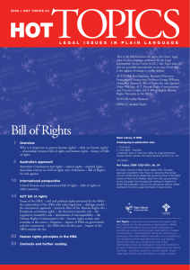 Bill of Rights - Issue 51 - Top Topics - LIAC