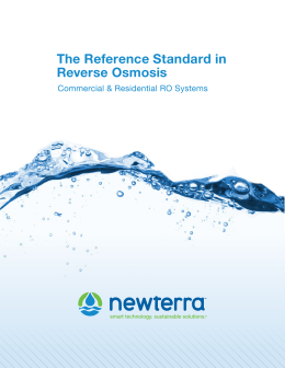 The Reference Standard in Reverse Osmosis
