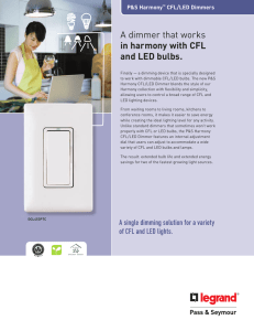 A dimmer that works in harmony with CFL and LED bulbs.