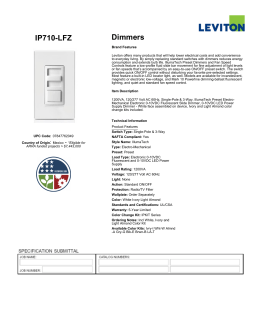 leviton illumatech ipi06 1lz bulletin ip710 lfz dimmers