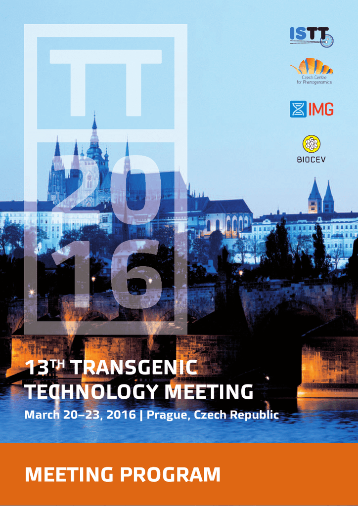 info for official photos buy HERE - International Society for Transgenic Technologies