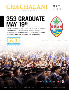 May 2015 Chachalani - Guam Community College