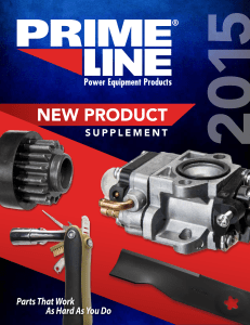 2015 New Product Supplement - Prime®Line Power Equipment