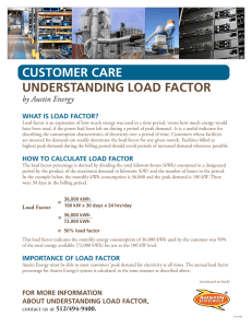 CUSTOMER CARE UndERSTAnding LOAd FACTOR